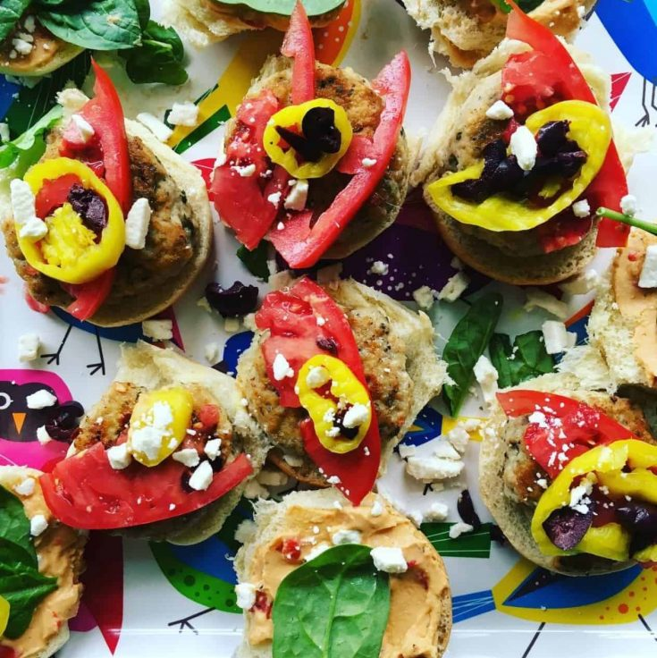 Greek Chicken Sliders are colorful and flavorful and ready in just 30 minutes