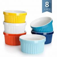 Sweese 5106 Porcelain Souffle Dishes, Ramekins - 8 Ounce for Souffle, Creme Brulee and Ice Cream - Set of 6, Assorted Colors …