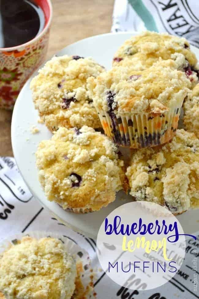 Blueberry Lemon Muffins are buttery and tender, loaded with lemon zest and fresh blueberries. The streusel topping will remind you of your favorite coffee shop muffins!