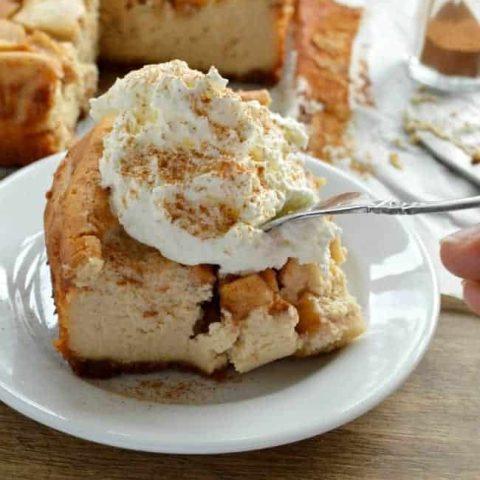 Peanut Butter Apple Cheesecake