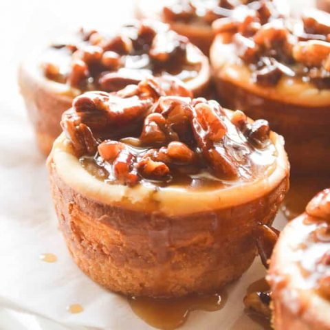 Spiced Rum Pecan Cheesecakes