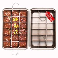 Non Stick Brownie Pans with Dividers, Diveded Brownie Pan, Make of High Carbon Steel,Size 12 x 8 x 2 inches