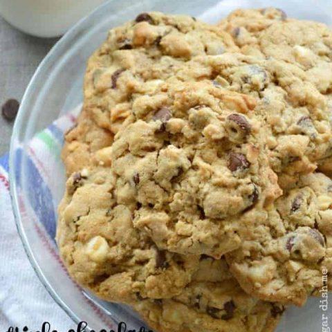 Favorite Triple Chocolate Peanut Butter Oatmeal Cookies