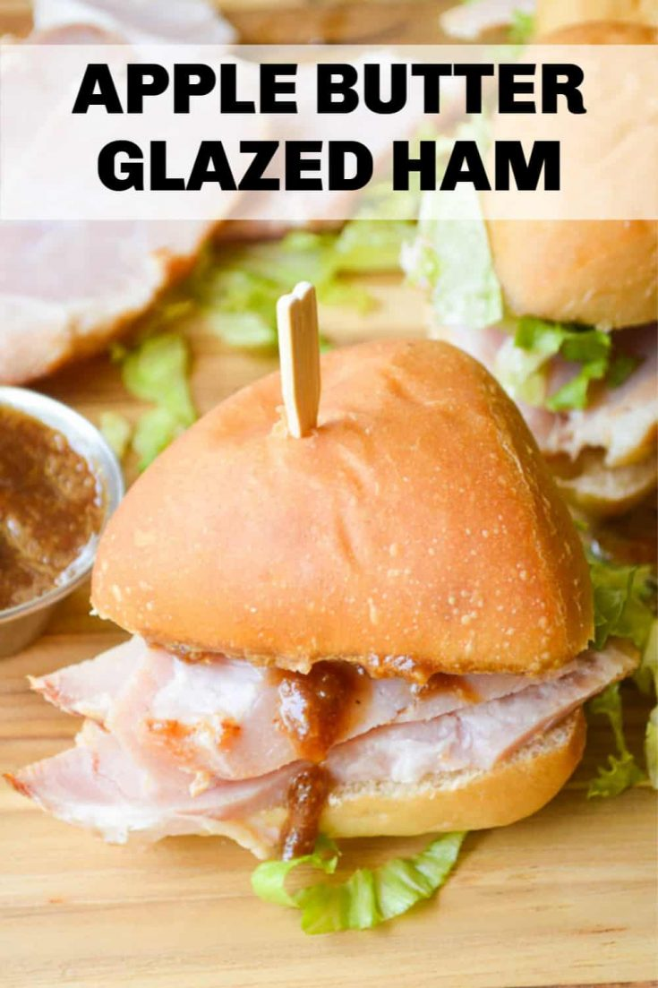 Apple Butter Glazed Ham is perfect for serving a holiday crowd. It's easy to make ahead and is simple enough for weeknight meals, brunch, sandwiches, and the glaze also works well on ham steak!