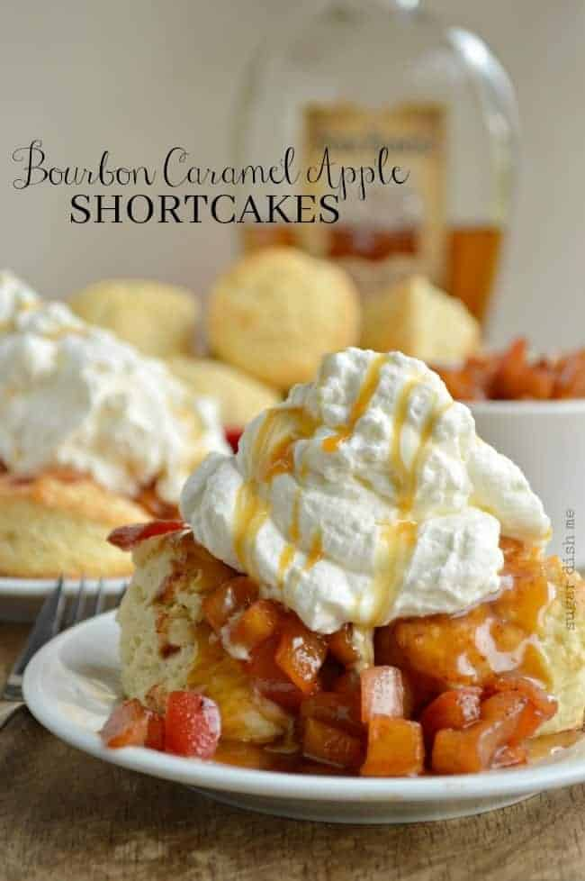 Bourbon Caramel Apple Shortcakes