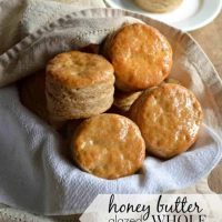 Honey Butter Glazed Whole Wheat Biscuits