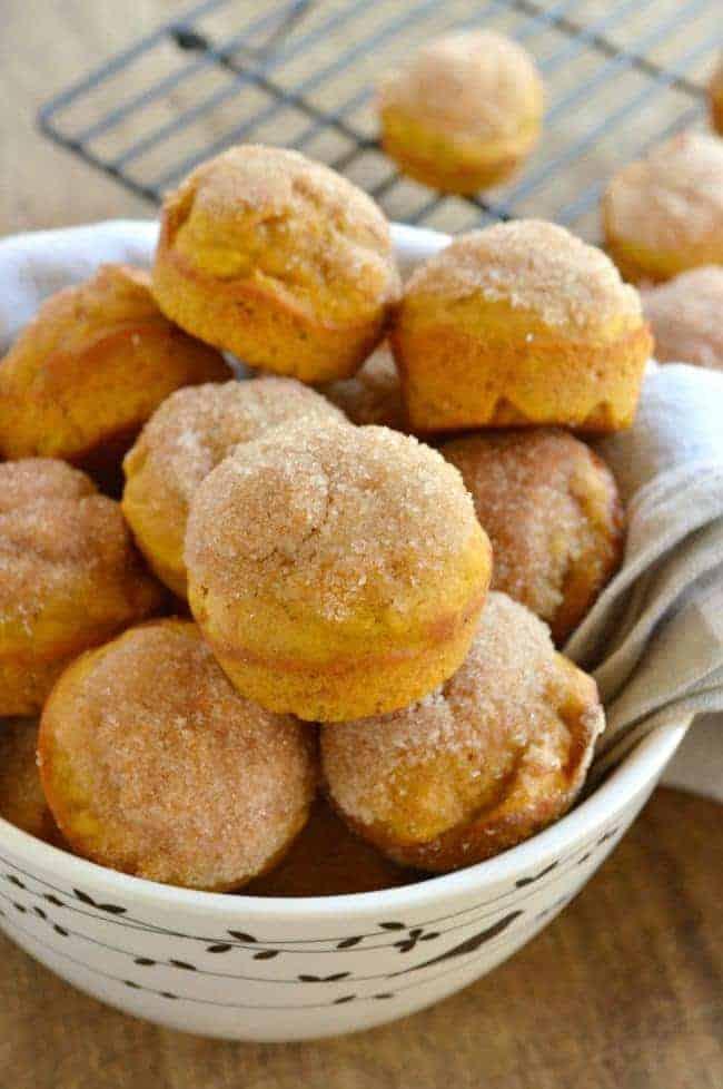 Pumpkin Donut Mini Muffins
