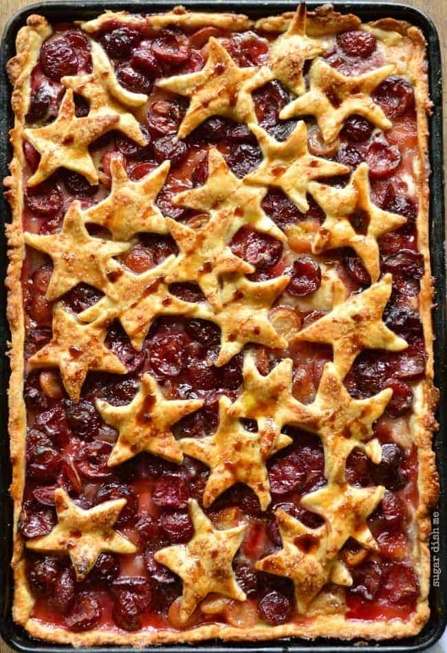 Cherry Cola Slab Pie